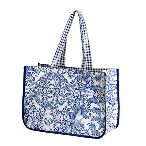 Blue Eden Oil Cloth Bag