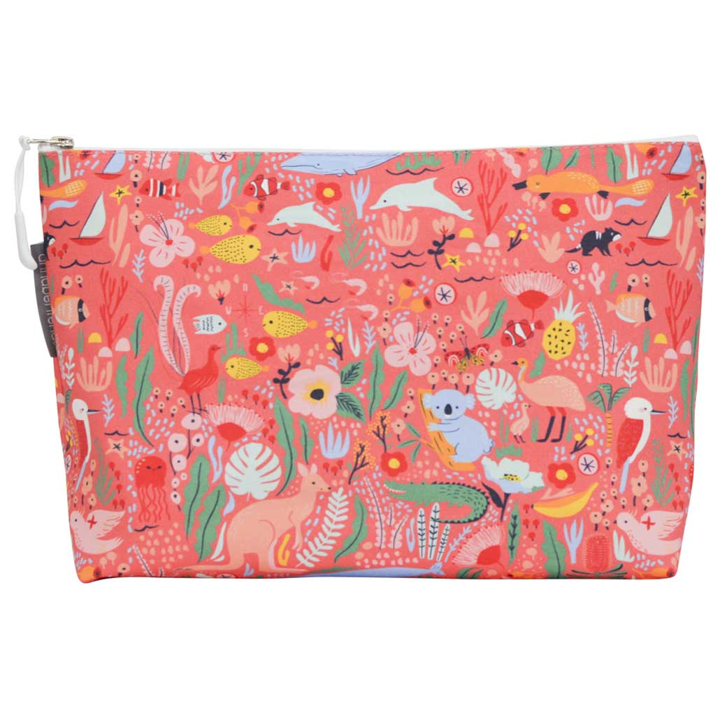 Gifts for Travellers - Toiletry Bags Australian Themed Made in Australia Down Under Design
