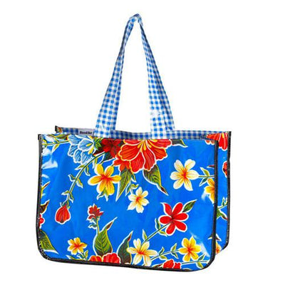 Bag Gifts Australia - Hibiscus Oil Cloth Blue