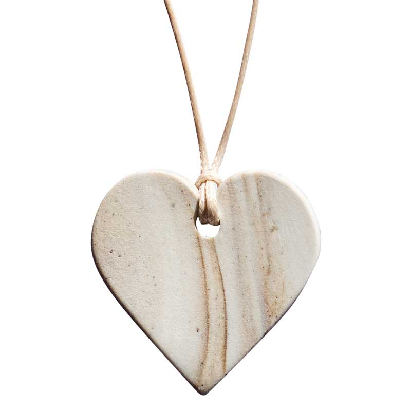 Kangaroo Island & Co Porcelain & Clay Jewellery - Heart Pendant