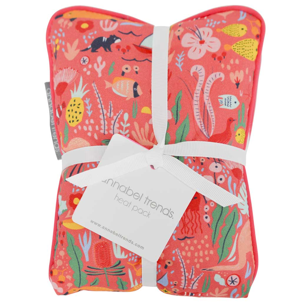 Australian Gifts for Women - Relaxing Heat Pack in Modern Australian Themed Material