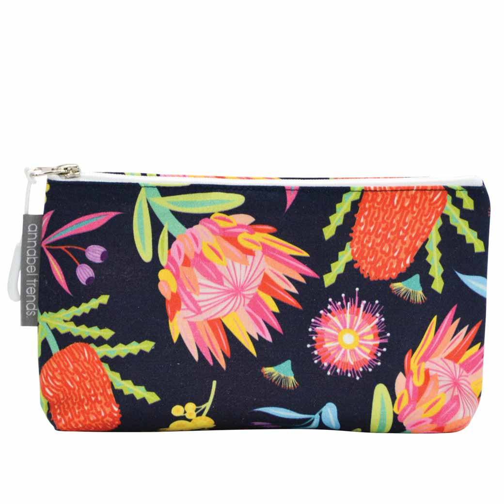 Australian beauty gifts, Aussie Flora cosmetic bags made in Australia