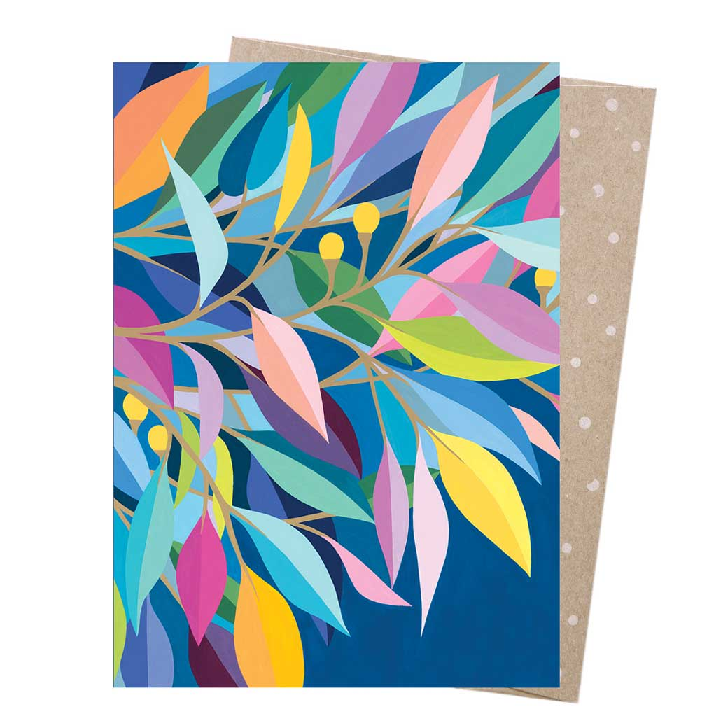Eucalyptus Leaves Greeting Card