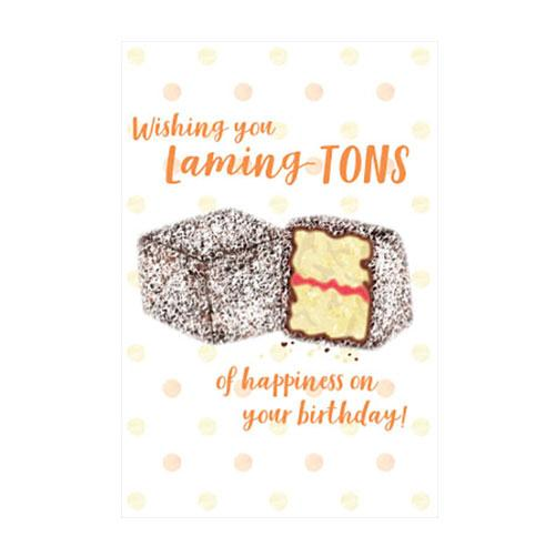 Lamingtons Birthday Greeting Card
