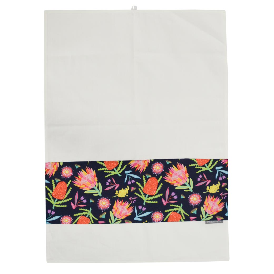 Australian Gifts for the Home Under $20. Made in Australia Aussie Flora Tea Towel