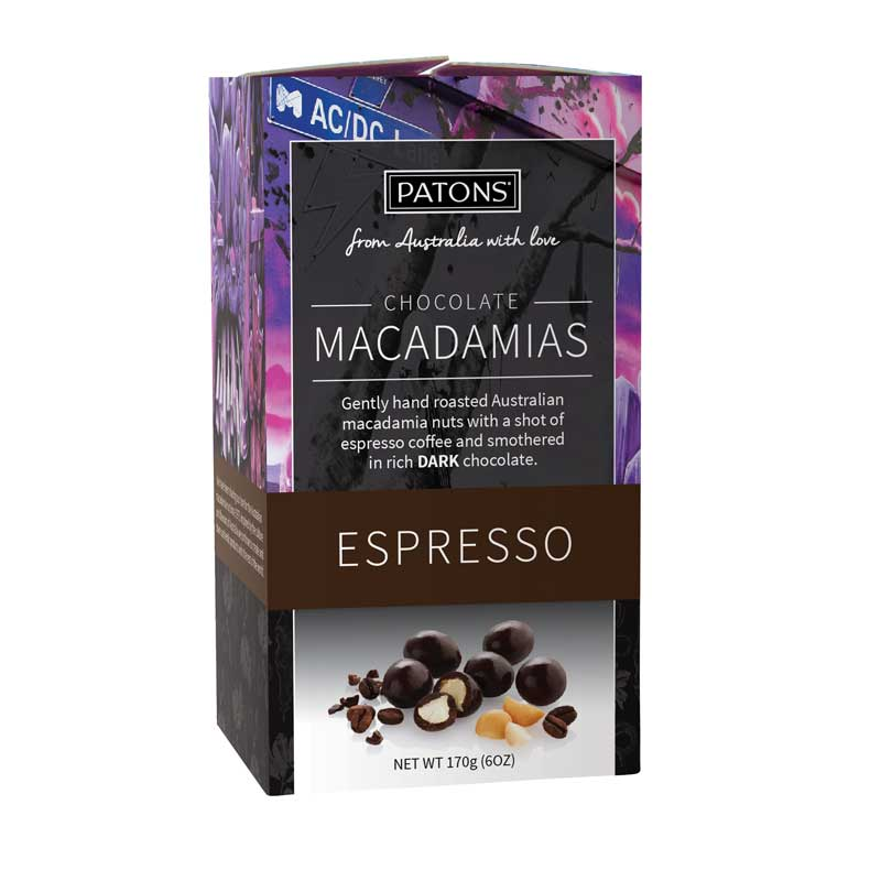 Australian Food Gifts - Chocolate Espresso Macadamias