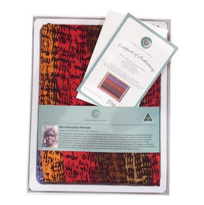 Australian Made Gifts & Souvenirs with the Limited Edition Petra Marshall Silk Scarf -by Scorched Earth. For the best Australian online shopping for a Scarves - 4