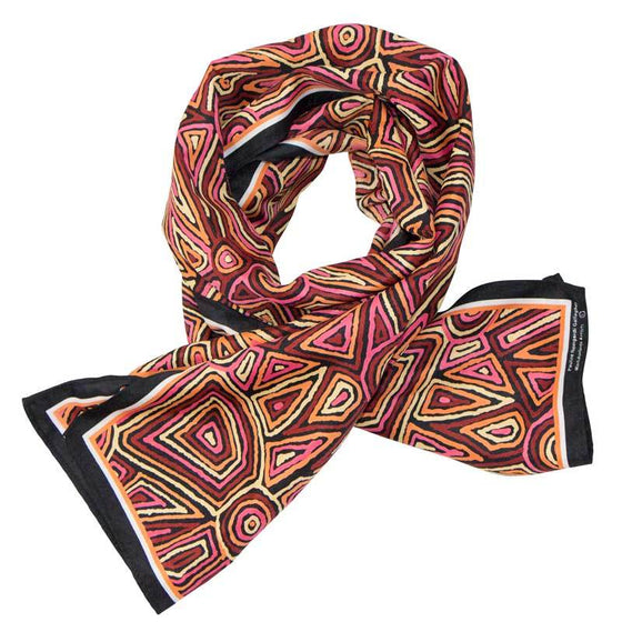 Aboriginal Design Poly Scarf