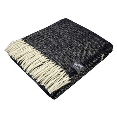 Black Diamond Merino Wool Throw