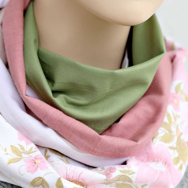 Australian Made Pink Florals Sustainable Gifts Infinity Scarf