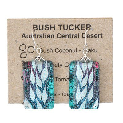 Australian Made Gifts & Souvenirs with the Bush Tucker Leaves Hook Earrings -by Simone Dennis. For the best Australian online shopping for a Jewellery