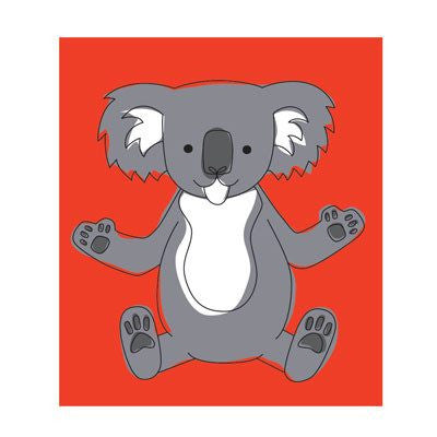 Australian Made Gifts & Souvenirs with the Koala Magnet -by Bits of Australia. For the best Australian online shopping for a Magnets - 1