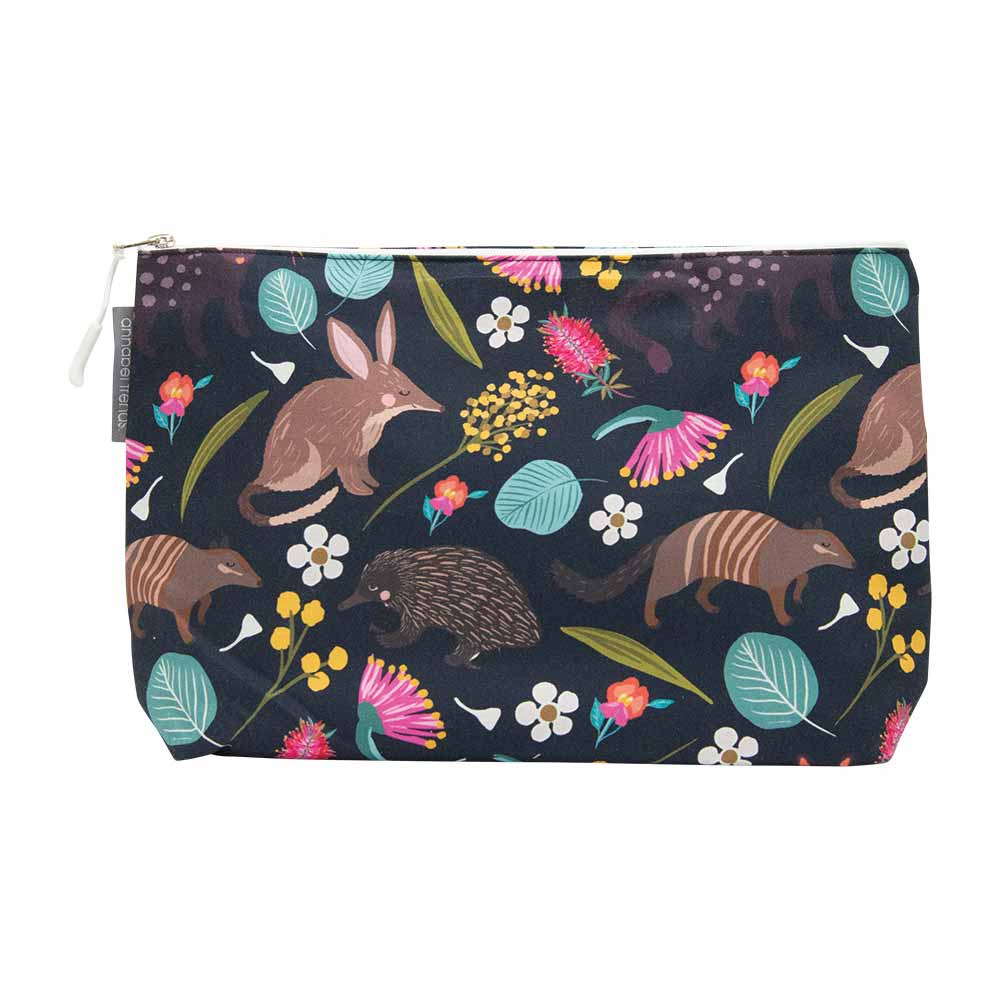 Australian Made Large Cosmetic Bag Nocturnal Animals