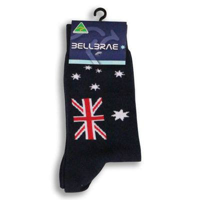Australian Made Gifts & Souvenirs with the Australia Flag Socks -by Bellbrae. For the best Australian online shopping for a Socks