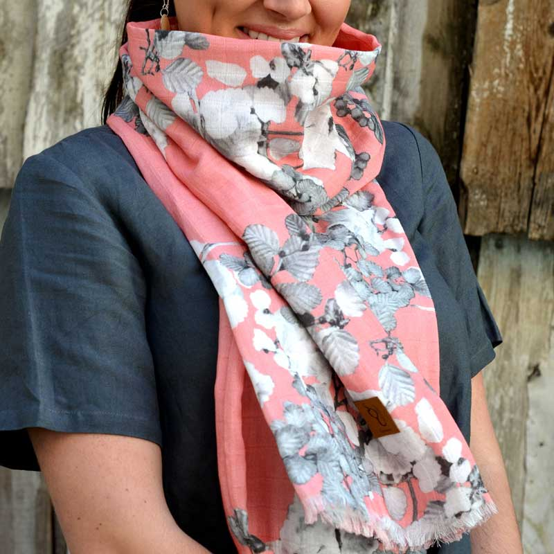 Australian Gifts for Women - Fargus Scarf Pink