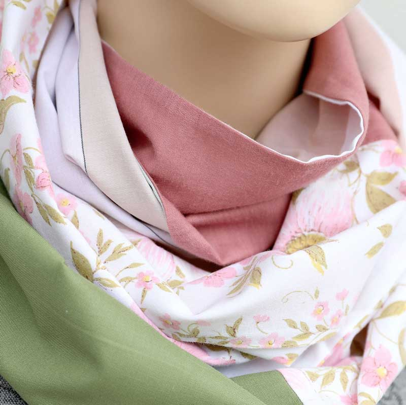 Australian Made Sustainable Gifts Pink Florals Infinity Scarf