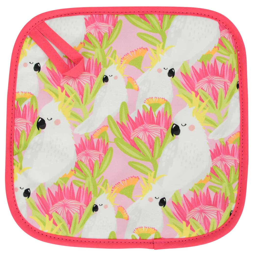 Australian Cockatoo Pot Holder