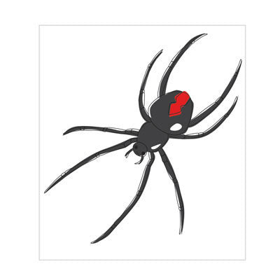 Australian Made Gifts & Souvenirs with the Redback Spider Magnet -by Bits of Australia. For the best Australian online shopping for a Magnets - 1