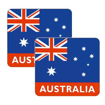 Australian Made Gifts & Souvenirs with the Australian Flag Coasters -by Visit Merchandise. For the best Australian online shopping for a Souvenirs