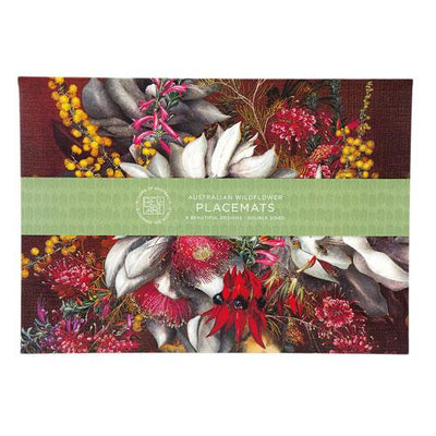 Australian Wildflowers Placemat Set