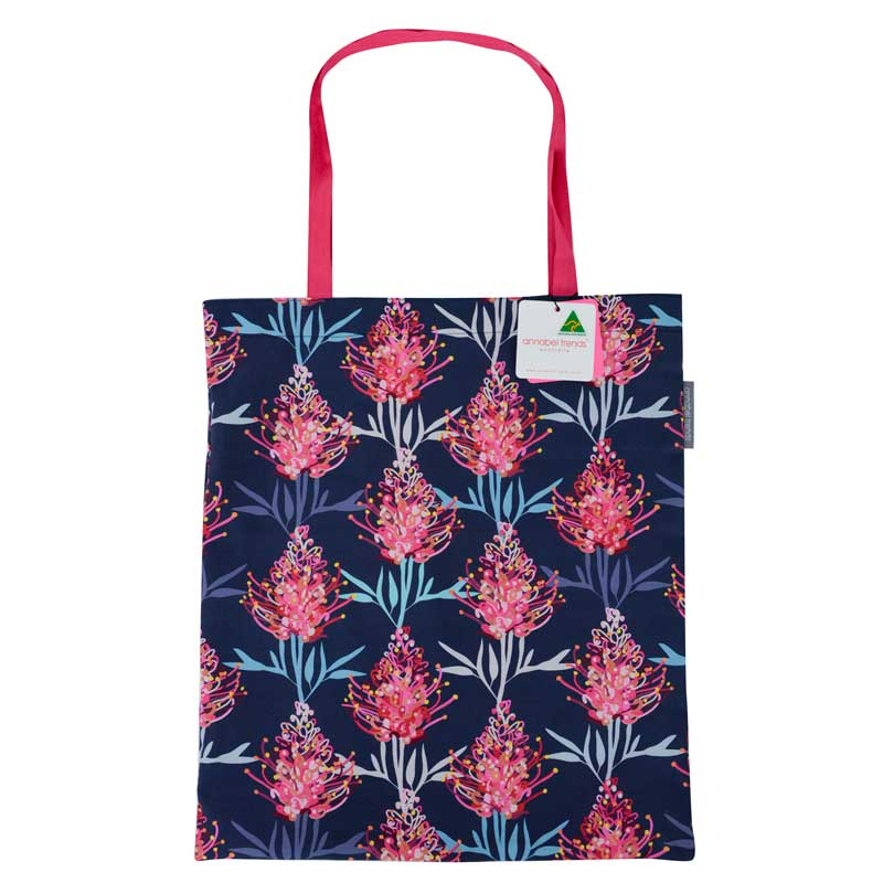 Reusable Shopping Bags Australian Made Pink Grevillea