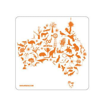 Australian Made Gifts & Souvenirs with the Australia Map Magnet -by Mokoh Design. For the best Australian online shopping for a Accessories