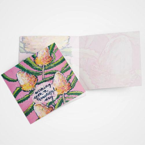 Beautiful Banksia Greeting Card