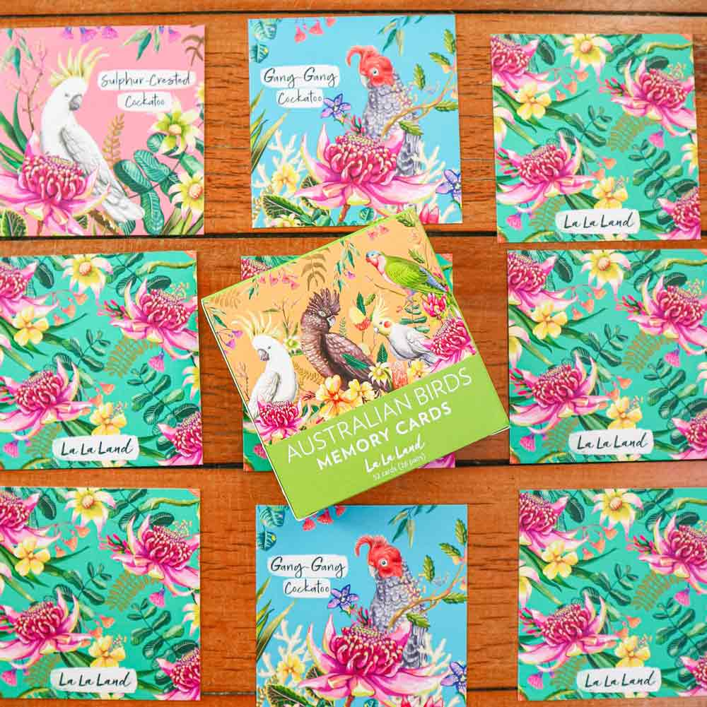 La La Land Memory Card Games - Australian Birds