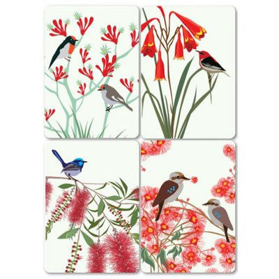 Australian Made Gifts & Souvenirs with the Australian Native Birds Magnet Card -by Mokoh Design. For the best Australian online shopping for a Magnets
