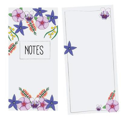 Australian Made Gifts & Souvenirs with the Wildflowers Notepad -by Bits of Australia. For the best Australian online shopping for a Stationery - 3