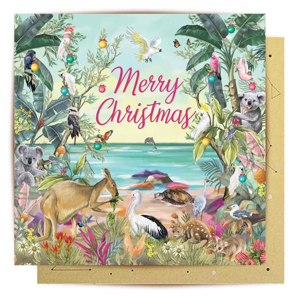 Australian Nature Themed Christmas Card La La Land
