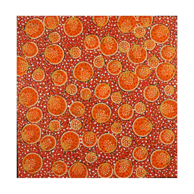 Orange Wall Art Original Painting by Melissa Napangardi Williams