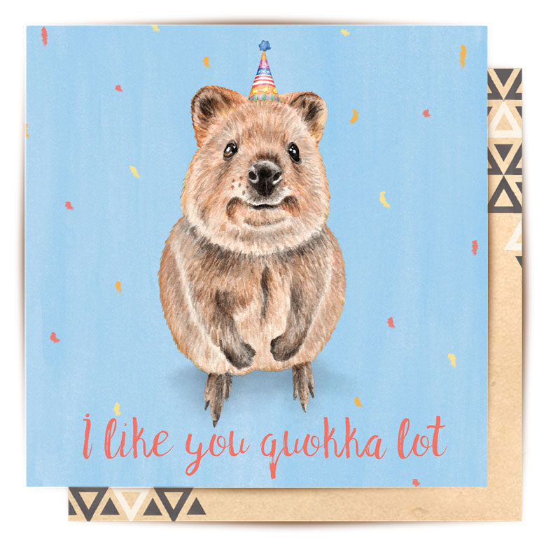 I Like You Quokka Lot Greeting Card