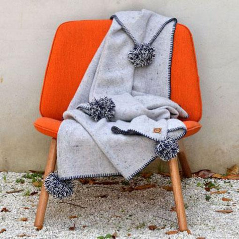 Australian Grey Wool Blend Throws