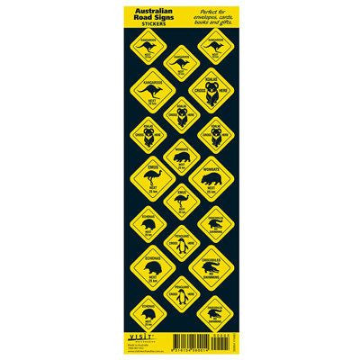 Australian Made Gifts & Souvenirs with the Australian Road Side Sign Stickers -by Visit Merchandise. For the best Australian online shopping for a Magnets - 1