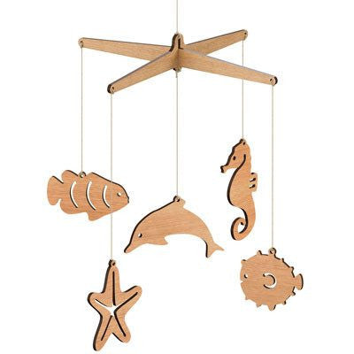 Australian Made Gifts & Souvenirs with the Australian Sea Life Mobile -by Byrne Woodware. For the best Australian online shopping for a Homewares