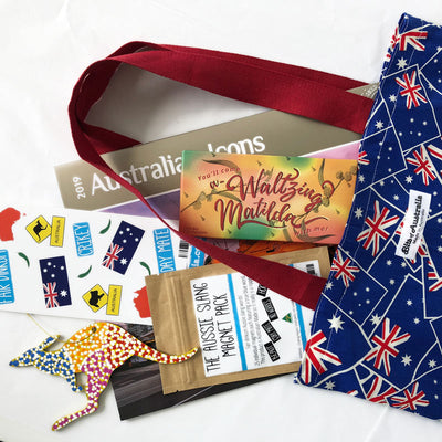 Australian Souvenir Shopping Bag Aussie Flag