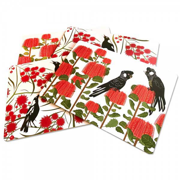 Australian Gifts for Chinese New Year Red Bird Placemats