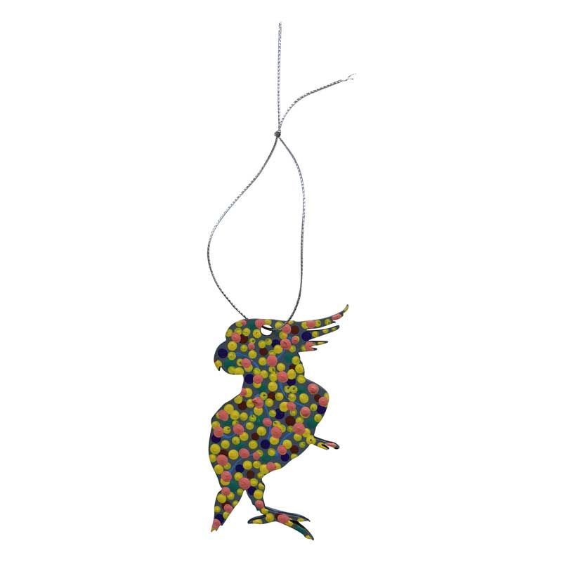 Aboriginal Art Cockatoo Decorations