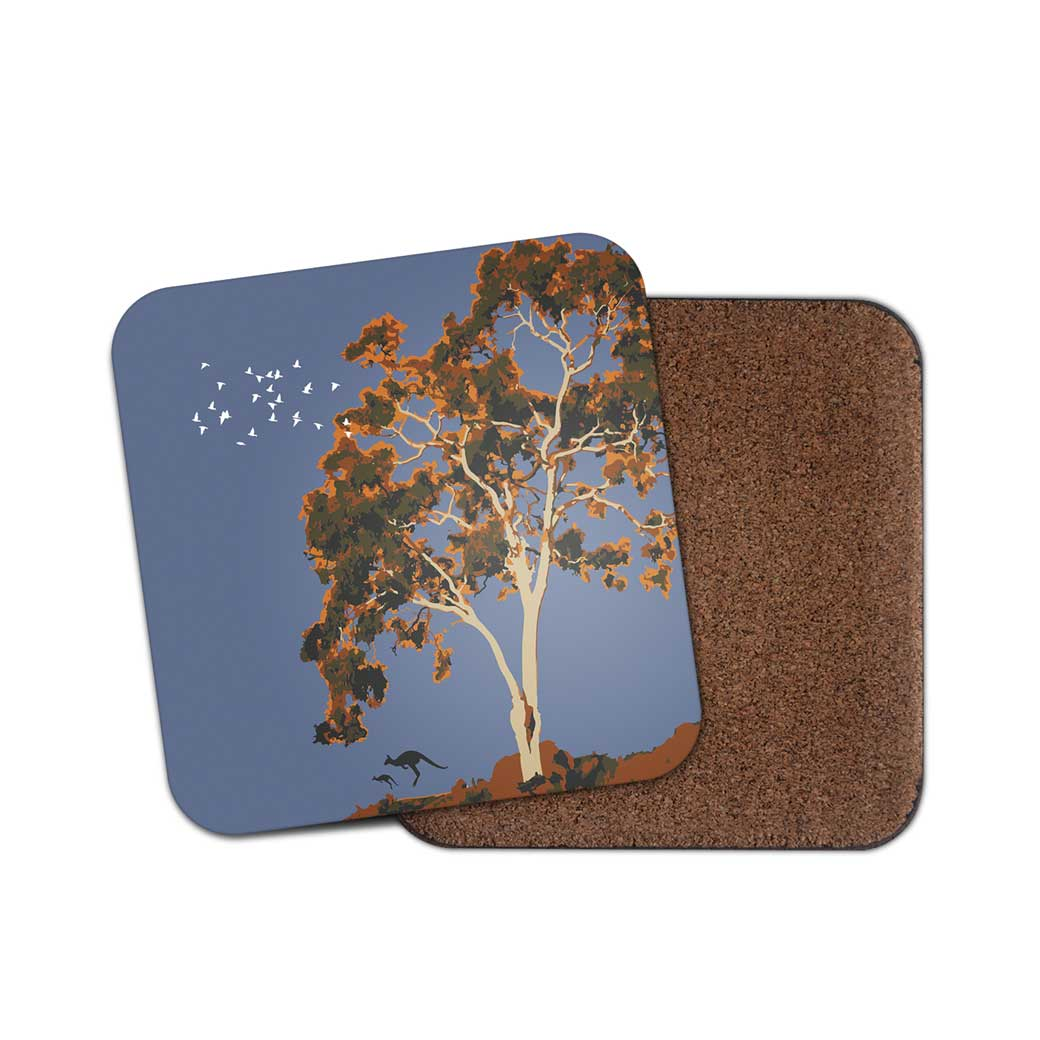 Drink Coasters Australia - Apple Box Gum Tree Design