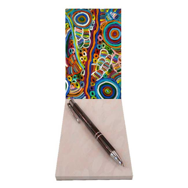 Authentic Aboriginal Art Souvenir Notepad from Utopia Giftware