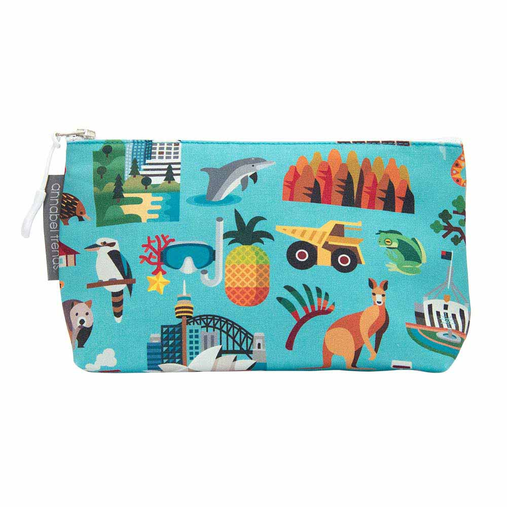 Australian Souvenir Small Toiletry Bag Aussie Icons