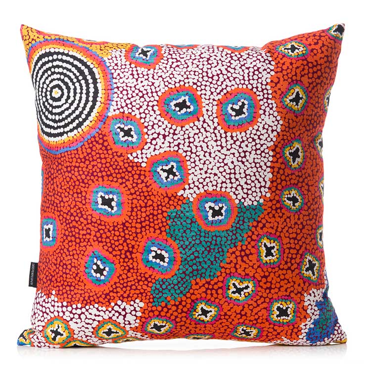 Aboriginal Homewares Australian Made Cushion Cover Ruth Stewart
