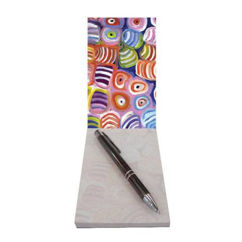 Australian Made Gifts & Souvenirs with the Small Aboriginal Art Notepad -by Utopia. For the best Australian online shopping for a Aboriginal Designs