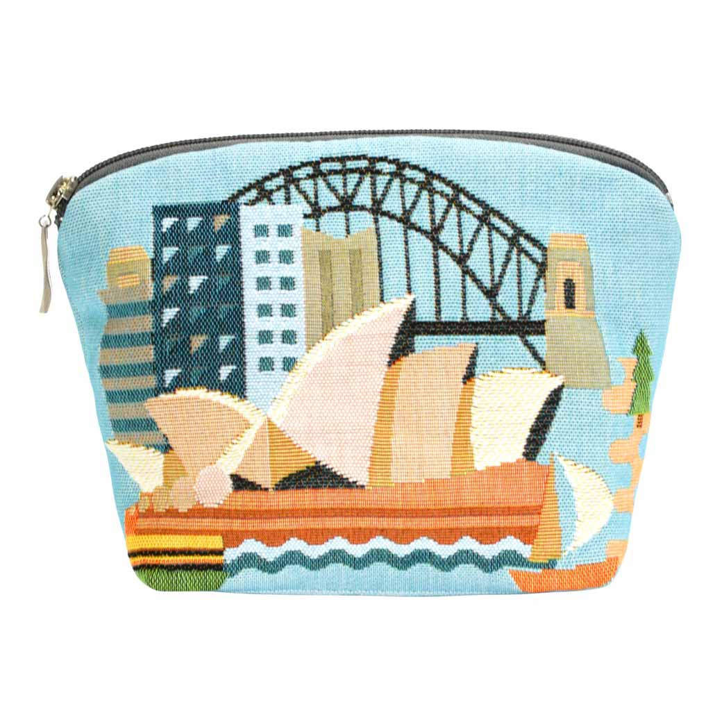 Australian-Souvenirs-Sydney-Tapestry-Cosmetic-Bag Unique Australian Gifts for Women