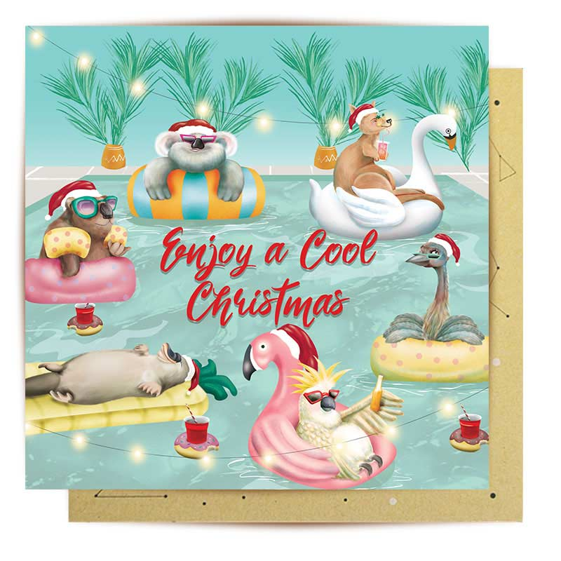 Send some Australian Christmas summer vibes with this Made in Australian Xmas greeting card