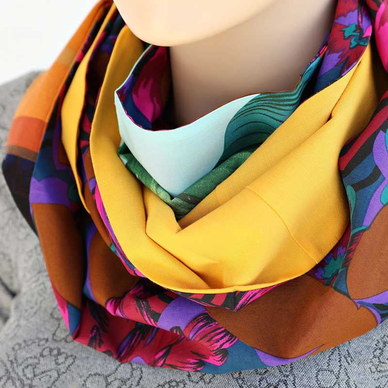 Australian Sustainable Gifts Japanese Patchwork Infinity Scarf