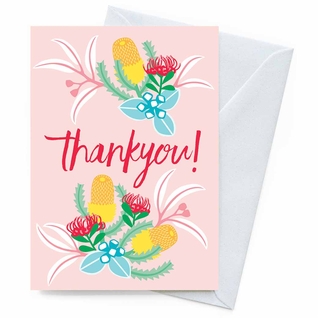 Eco Friendly Australian Made Greeting Cards - Thank You