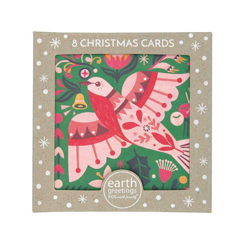 Australian Boxed Christmas Card Packs - Australian Native Flame Robin