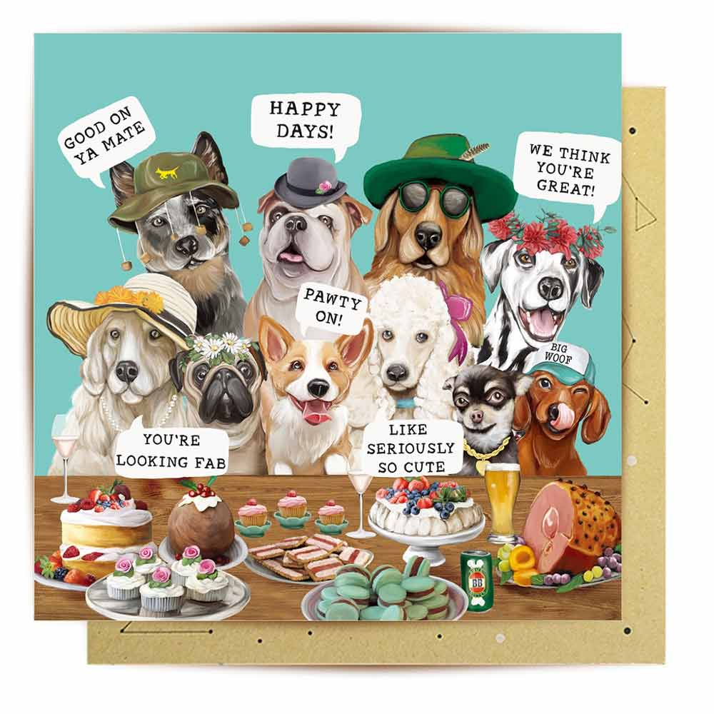 Australian Themed Dog Birthday Card -Blue Cattle Dog by La La Land